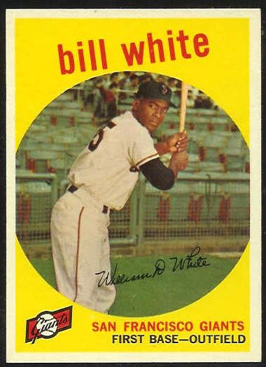 1959 Topps #359 Bill White ROOKIE [#a] (Giants) Baseball cards value