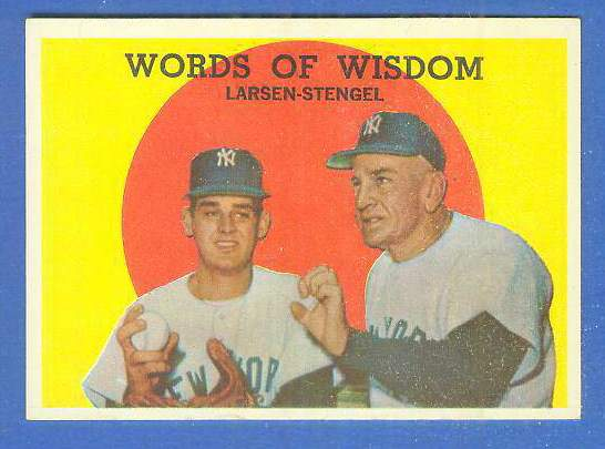1959 Topps #383 'Words of Wisdom' [#a] (Yankees) Baseball cards value