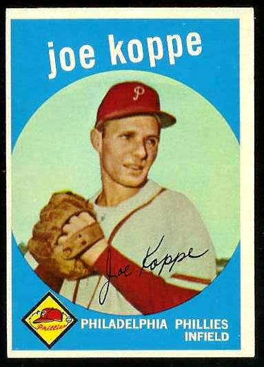 1959 Topps #517 Joe Koppe SCARCE HIGH #.[#a] (Phillies) Baseball cards value