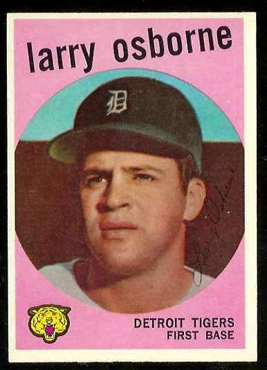 1959 Topps #524 Larry Osborne SCARCE HIGH #.[#a] (Tigers) Baseball cards value