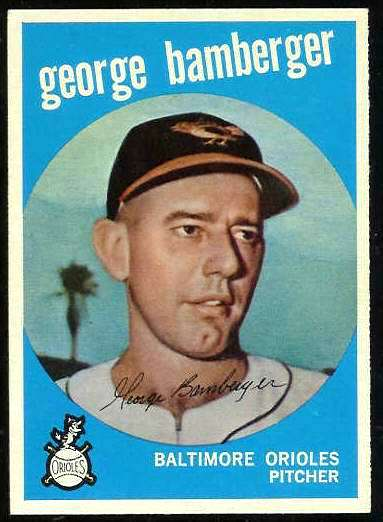 1959 Topps #529 George Bamberger ROOKIE SCARCE HIGH #.[#a] (Orioles) Baseball cards value