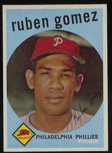 1959 Topps #535 Ruben Gomez SCARCE HIGH #.[#a] (Phillies) Baseball cards value