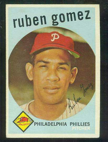 1959 Topps #535 Ruben Gomez SCARCE HIGH #.[#e] (Phillies) Baseball cards value