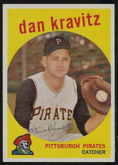 1959 Topps #536 Danny Kravitz SCARCE HIGH #.[#a] (Pirates) Baseball cards value