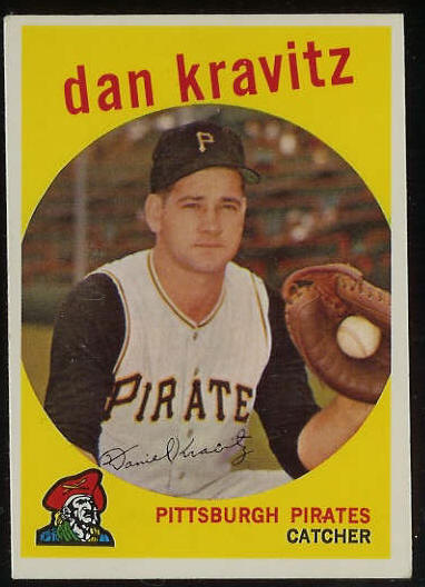 1959 Topps #536 Danny Kravitz SCARCE HIGH #.[#b] (Pirates) Baseball cards value