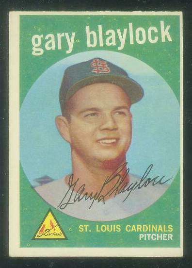 1959 Topps #539 Gary Blaylock SCARCE HIGH #.[#a] (Cardinals) Baseball cards value
