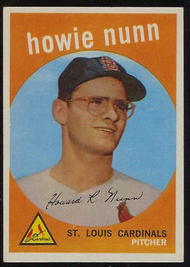 1959 Topps #549 Howie Nunn SCARCE HIGH #.[#a] (Cardinals) Baseball cards value