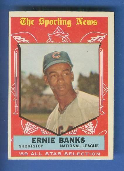1959 Topps #559 Ernie Banks All-Star SCARCE HIGH #.(Cubs) Baseball cards value