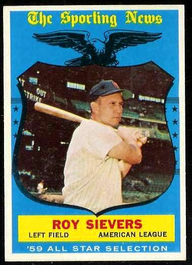 1959 Topps #566 Roy Sievers All-Star SCARCE HIGH #.[#a] (Senators) Baseball cards value