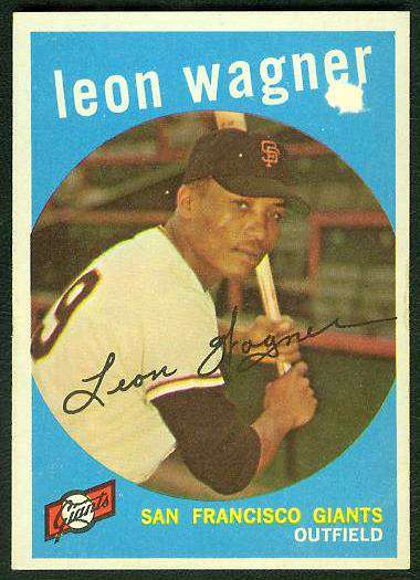 1959 Topps #257 Leon Wagner ROOKIE (Giants) Baseball cards value