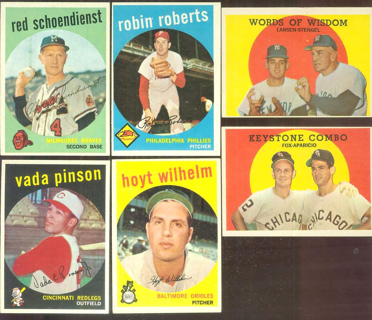 1959 Topps #408 'Keystone Combo' [#a] Nellie Fox/Luis Aparicio (White Sox) Baseball cards value