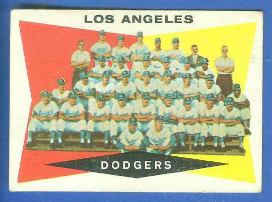 1960 Topps #.18 Dodgers TEAM card Baseball cards value