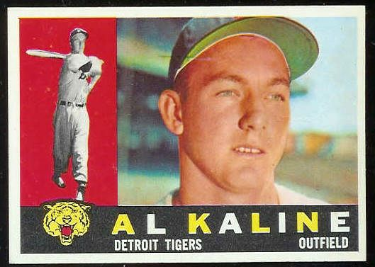1960 Topps #.50 Al Kaline [#a] (Tigers) Baseball cards value