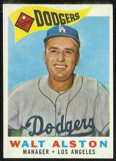 1960 Topps #212 Walter Alston MGR [#b] (Dodgers) Baseball cards value