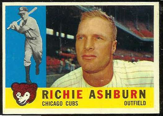 1960 Topps #305 Richie Ashburn [#b] (Cubs) Baseball cards value