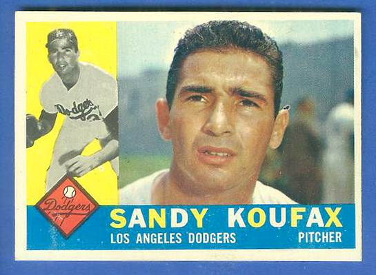 1960 Topps #343 Sandy Koufax [#a] (Dodgers) Baseball cards value