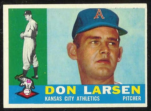 1960 Topps #353 Don Larsen [#a] (A's) Baseball cards value