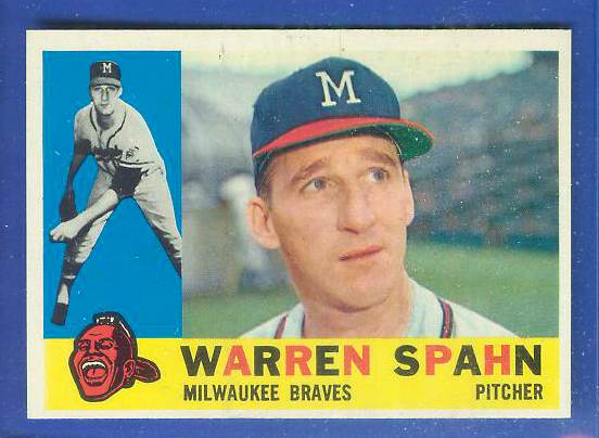 1960 Topps #445 Warren Spahn [#a] (Braves) Baseball cards value