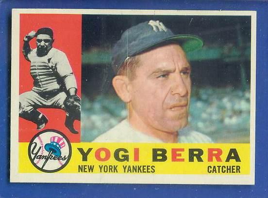 1960 Topps #480 Yogi Berra (Yankees) Baseball cards value