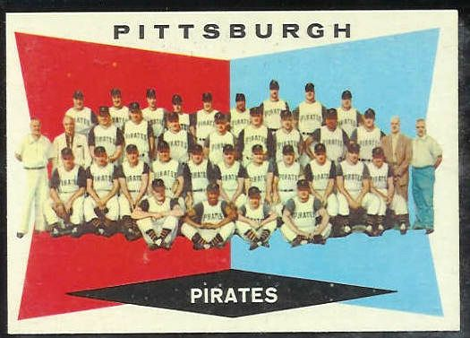 1960 Topps #484 Pirates TEAM card [#a] Baseball cards value