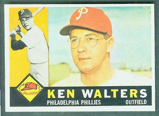 1960 Topps #511 Ken Walters SCARCE HIGH NUMBER  [#a] (Phillies) Baseball cards value