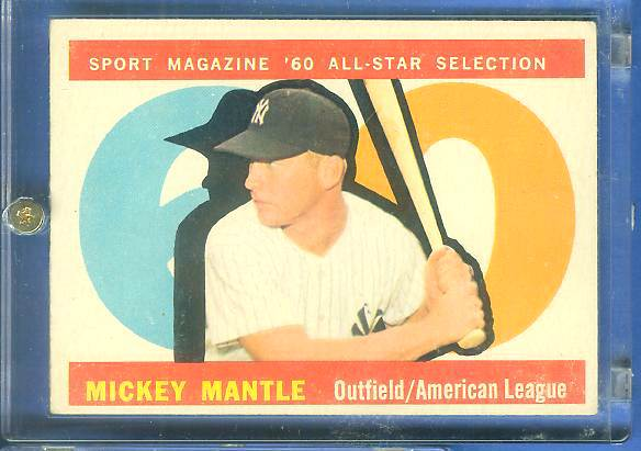 1960 Topps #563 Mickey Mantle All-Star SCARCE HIGH NUMBER (Yankees) Baseball cards value