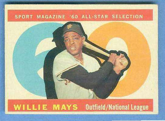 1960 Topps #564 Willie Mays All-Star [#b] SCARCE HIGH NUMBER (Giants) Baseball cards value
