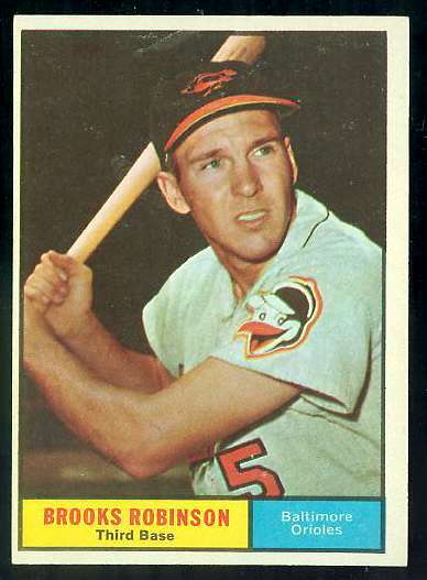 1961 Topps #.10 Brooks Robinson [#c] (Orioles) Baseball cards value