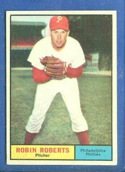 1961 Topps #.20 Robin Roberts [#a] (Phillies) Baseball cards value