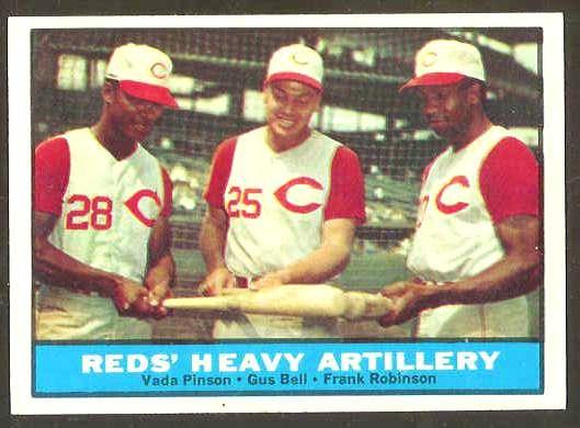 1961 Topps #.25 Reds Heavy Artillery [#a] (w/Vada Pinson/Frank Robinson) Baseball cards value