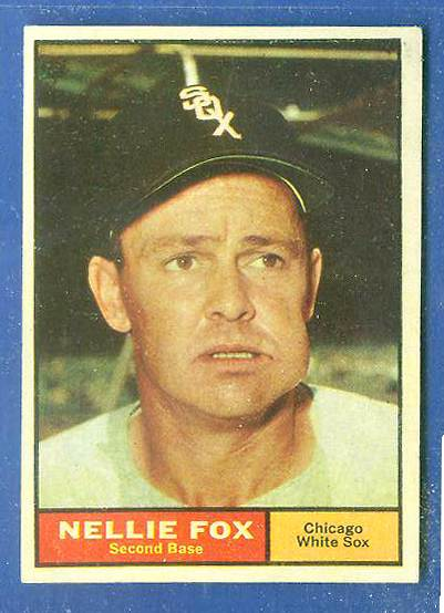 1961 Topps #.30 Nellie Fox [#b] (White Sox) Baseball cards value