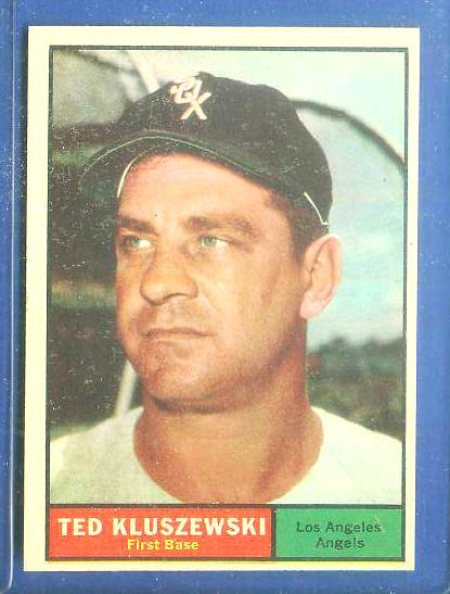 1961 Topps #.65 Ted Kluszewski [#d] (Angels,w/White Sox cap) Baseball cards value