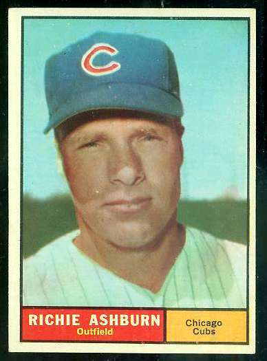 1961 Topps #.88 Richie Ashburn [#a] (Cubs) Baseball cards value