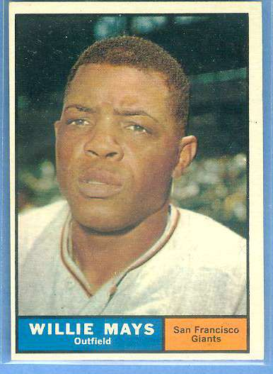 1961 Topps #150 Willie Mays [#c] (Giants) Baseball cards value