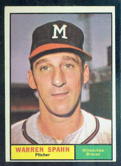 1961 Topps #200 Warren Spahn [#a] (Braves) Baseball cards value