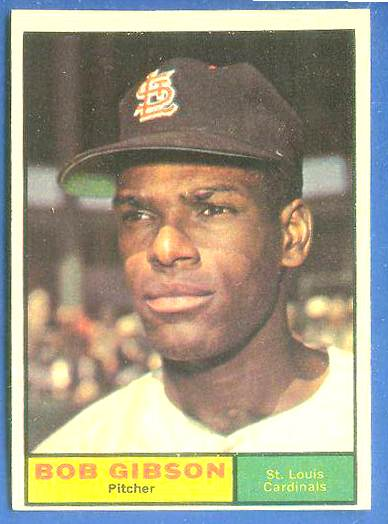 1961 Topps #211 Bob Gibson [#b] (Cardinals) Baseball cards value