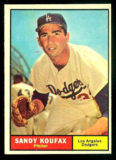 1961 Topps #344 Sandy Koufax [#a] (Dodgers) Baseball cards value