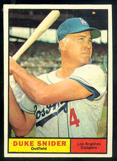 1961 Topps #443 Duke Snider [#a] (Dodgers) Baseball cards value