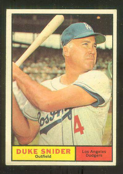 1961 Topps #443 Duke Snider [#c] (Dodgers) Baseball cards value