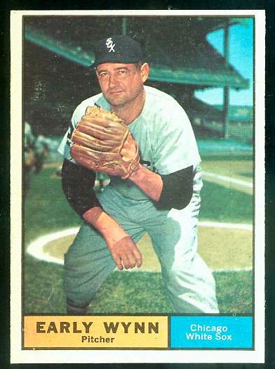 1961 Topps #455 Early Wynn [#b] (White Sox) Baseball cards value