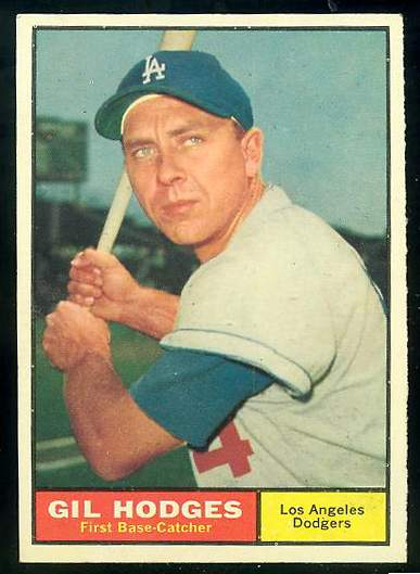 1961 Topps #460 Gil Hodges (Dodgers) Baseball cards value