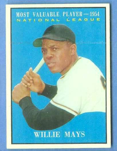 1961 Topps #482 Willie Mays MVP [#c] (Giants) Baseball cards value