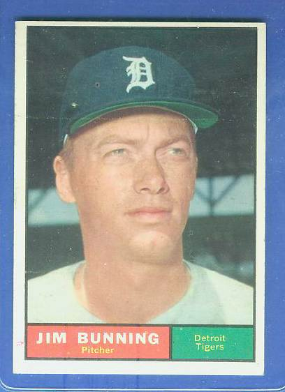 1961 Topps #490 Jim Bunning [#b] (Tigers) Baseball cards value