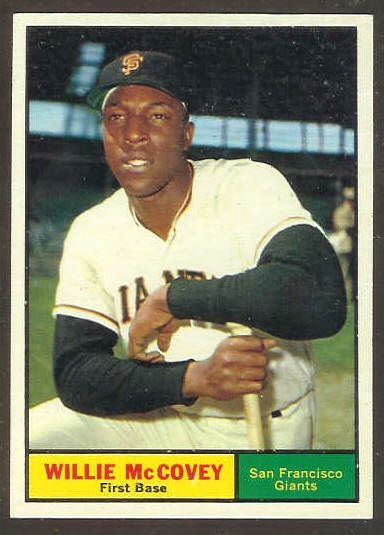 1961 Topps #517 Willie McCovey [#d] (Giants) Baseball cards value