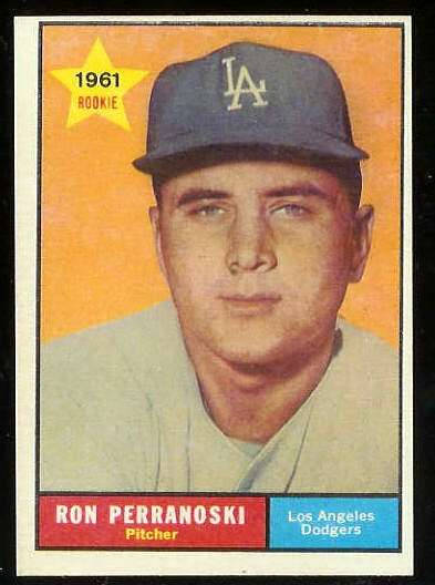 1961 Topps #525 Ron Perranoski ROOKIE SCARCE HIGH #.[#b] (Dodgers) Baseball cards value