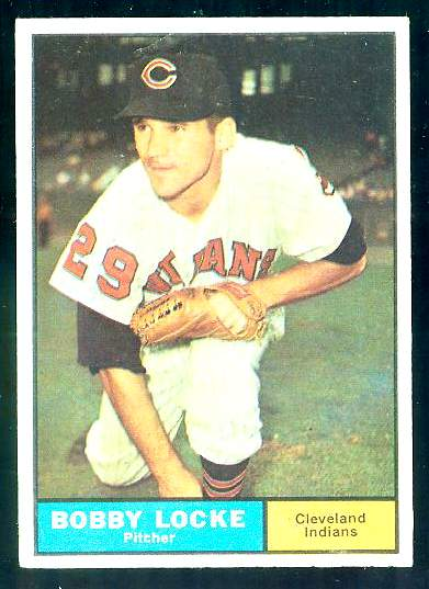 1961 Topps #537 Bobby Locke SCARCE HIGH #.[#b] (Indians) Baseball cards value
