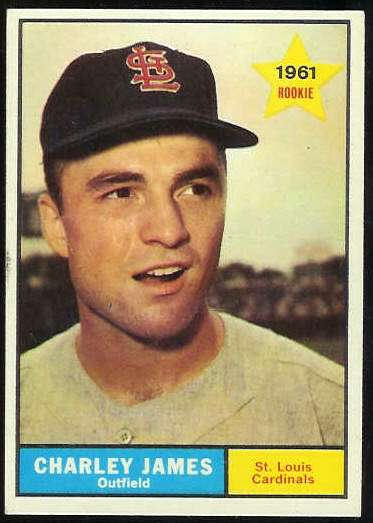 1961 Topps #561 Charley James SCARCE HIGH #.[#a] (Cardinals) Baseball cards value