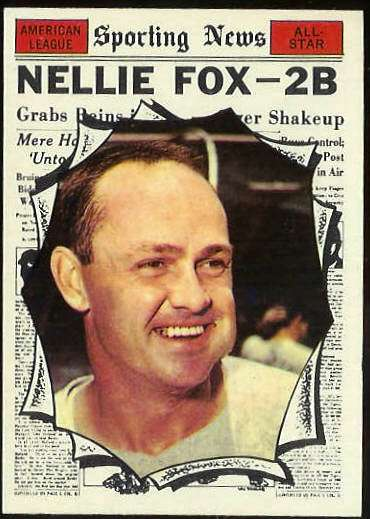 1961 Topps #570 Nellie Fox All-Star SCARCE HIGH #.(White Sox) Baseball cards value