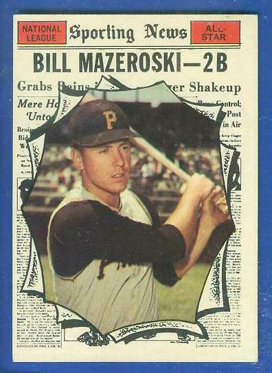 1961 Topps #571 Bill Mazeroski All-Star SCARCE HIGH #.[#a] (Pirates) Baseball cards value