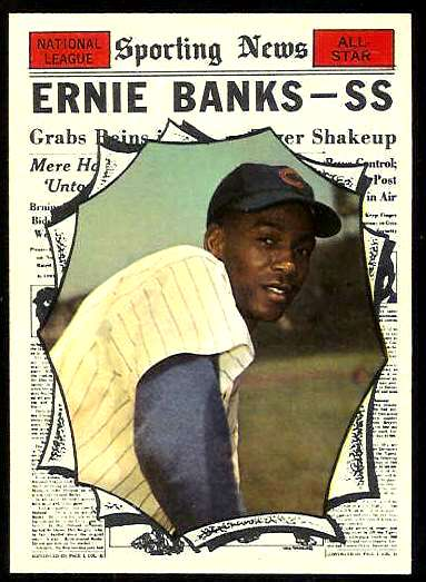 1961 Topps #575 Ernie Banks All-Star SCARCE HIGH #.(Cubs) Baseball cards value